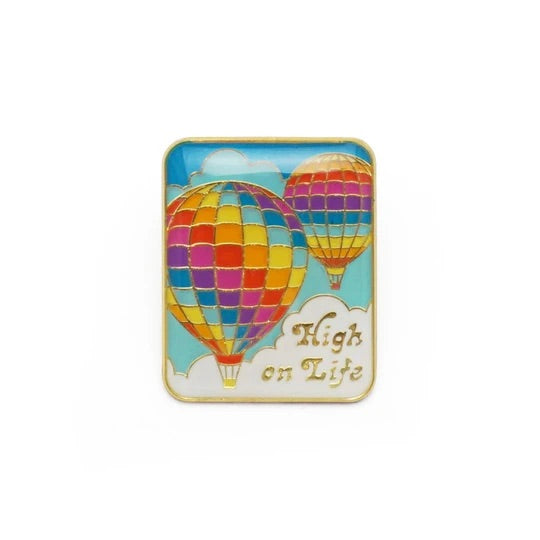 High in Life enamel pin by Lucky Horse Press // hey tiger louisville kentucky