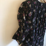 Vintage 80s 90s ditsy floral Mini Dress jumper // size 7 // Grunge Retro festival fashion // hey tiger louisville kentucky