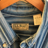 L.L. Bean Striped Denim Oxford // Unisex Size Large // Hey Tiger Louisville Kentucky