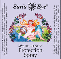 suns eye •Mystic Blends Protection Spray•  Protection Spray, with spicy top notes in a base of Verbena, is formulated to strengthen immunities to negative energy. Use it to elevate your personal space hey tiger louisville kentucky
