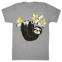 Sloth shirt is printed by hand on a high quality, sweatshop-free, vintage inspired tri-blend tshirt by Gnome Enterprises // hey tiger louisville kentucky