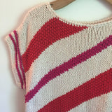 Vintage 80s 90s Liz Claiborne Boxy Sweater Knit top // striped Slouchy loose fitting // hey tiger louisville kentucky