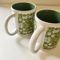 Vintage Retro 60s 70s Floral mug Set // Coffee Tea // kitsch kitchen home goods // Hey Tiger Louisville Kentucky