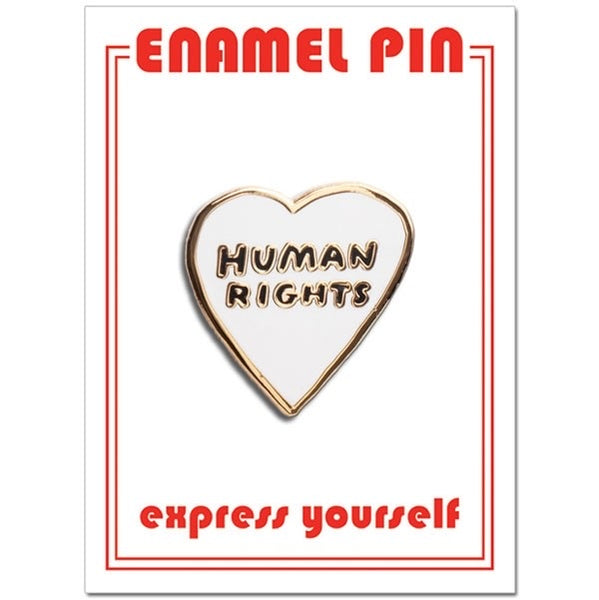 Human Rights Enamel Pin by the Found // hey tiger louisville kentucky