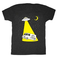 Taco Truck Abduction shirt is printed by hand on a high quality, sweatshop-free, vintage inspired tri-blend tshirt by Gnome Enterprises // hey tiger louisville kentucky