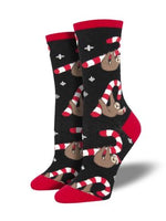 "WOMEN'S ""MERRY SLOTHMAS"" SOCKS by Socksmith // hey tiger louisville kentucky"