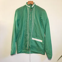 Vintage Retro Green Lightweight Windbreaker // Size Small // bowling mechanic moto boxy parka jacket // hey tiger louisville kentucky