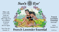 Suns Eye 100% Essential Lavender Oil. Floral and fresh, Lavender is traditionally associated with calming and nurturing. Hey Tiger Louisville Kentucky
