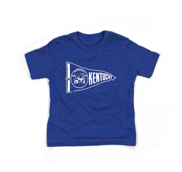 Kentucky for Kentucky // Kentucky Pennant Kids T-Shirt // Toddler Sizes 2T - 5T // Hey Tiger Louisville