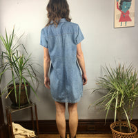Vintage 90s Faded Glory denim dress jumper pinafore // Size 10 // retro grunge boho // hey tiger louisville kentucky