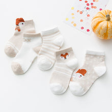 Load image into Gallery viewer, 5Pairs/lot 0-2Y Infant Baby Socks Baby Socks for Girls Cotton Mesh Cute Newborn Boy Toddler Socks Baby Clothes Accessories