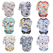 Load image into Gallery viewer, Newborn Bodysuit Baby Clothes Cotton Body Baby Long Sleeve Underwear Infant Boys Girls Clothing Baby's Sets