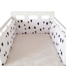Load image into Gallery viewer, baby nursery Nordic Stars Design Baby Bed Thicken Bumper One-piece Crib Around Cushion Cot Protector Pillows Newborns Room Decor
