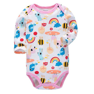 newborn bodysuit baby babies bebes clothes long sleeve cotton printing infant clothing 1pcs 0-24 Months