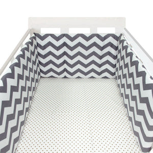 baby nursery Nordic Stars Design Baby Bed Thicken Bumper One-piece Crib Around Cushion Cot Protector Pillows Newborns Room Decor
