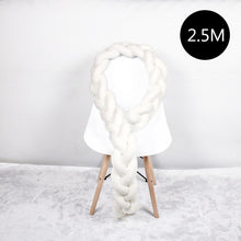 Load image into Gallery viewer, 1M/2M/2.5M/3M/4M Length Newborn Baby Bed Bumper Pure Weaving Plush Knot Crib Bumper Kids Bed Baby Cot Protector Baby Room Decor