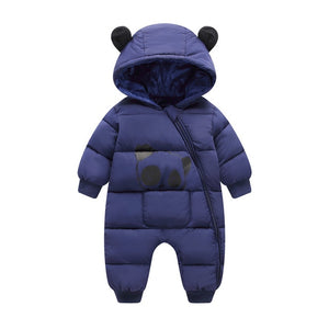 Baby Boy Girl Clothes 2019 New Born Winter Hooded Rompers Thick Cotton Outfit Newborn Jumpsuit Children Costume Toddler Romper