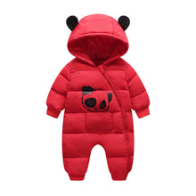 Load image into Gallery viewer, Baby Boy Girl Clothes 2019 New Born Winter Hooded Rompers Thick Cotton Outfit Newborn Jumpsuit Children Costume Toddler Romper
