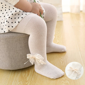 Baby Tights Infant Girl Newborn Kids Pantyhose Lace Bow Flower Hosiery Kids Stockings Summer Mesh Tights Toddler