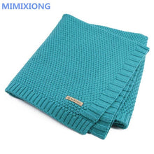 Load image into Gallery viewer, Baby Blanket Knitted Newborn Swaddle Wrap Blankets Super Soft Toddler Infant Bedding Quilt For Bed Sofa Basket Stroller Blankets