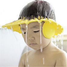 Load image into Gallery viewer, Children Waterproof Cap Safe Baby Shower Cap Kids Bath Visor Hat Adjustable Baby Shower Cap Protect Eyes Hair