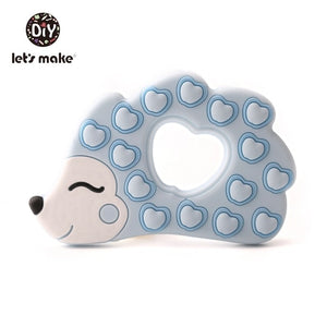 BPA Free Silicone Teethers Food Grade Tiny Rod DIY Teething Necklace Baby Shower Gifts Cartoon Animals Teether Let's Make 1pc
