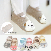 Load image into Gallery viewer, 1 Pair Fashion Baby Girls Boys Cute Cartoon Non-slip Cotton Toddler Floor Socks Animal pattern First Walker Shoes for Newborns