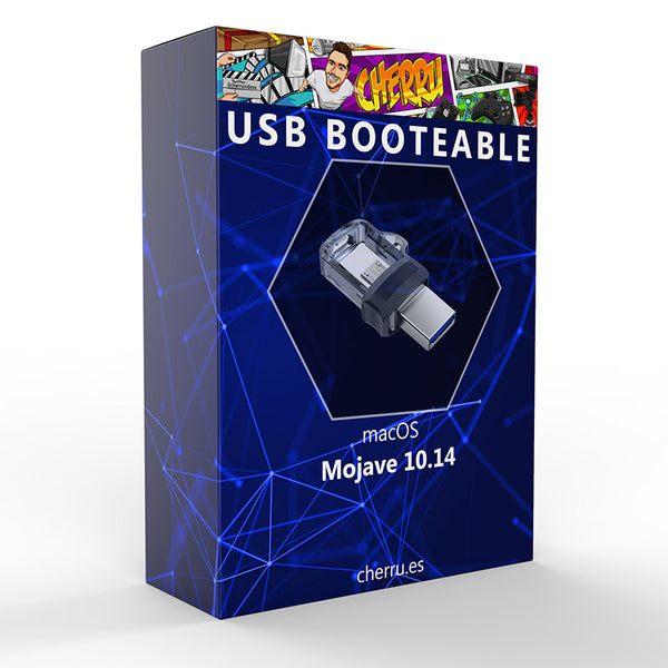 USB booteable macOS Mojave 10.14 - Envío gratis