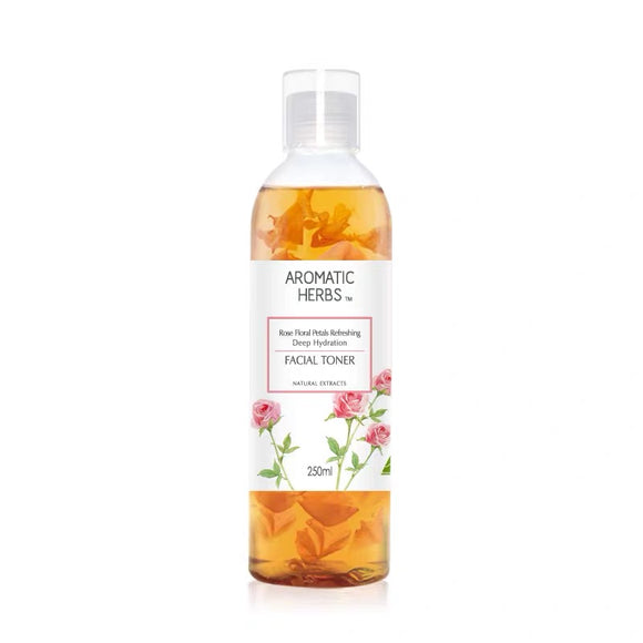 AROMATIC HERBS Rose Floral Petals Refreshing Deep Hydration Facial Toner 200ml