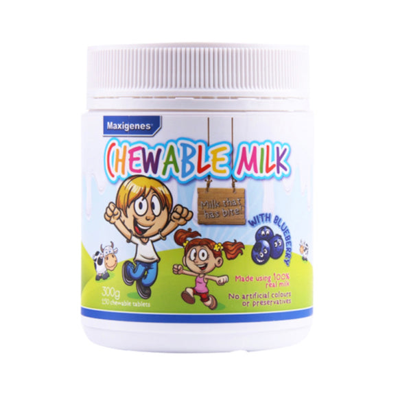 MAXIGENES Chewable Milk with Blueberry 150 Chewable Tablets