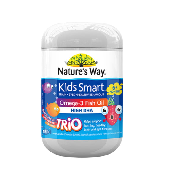 NATURE'S WAY KIDS SMART Omega 3 Fish Oil Trio 180 Capsules