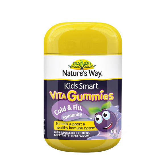 NATURE'S WAY Kids Smart Vita Gummies Cold&Flu Immune Support 60gummies