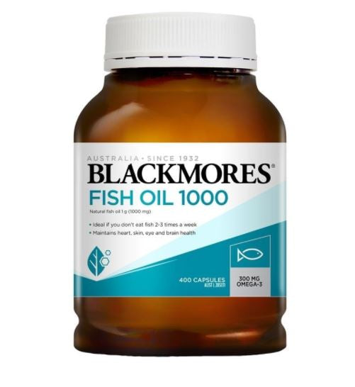 Blackmores Fish Oil 1000mg 400 Capsules new look
