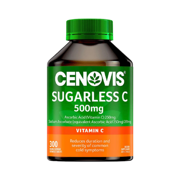CENOVIS Sugarless C 500mg 300 Chewable Tablets