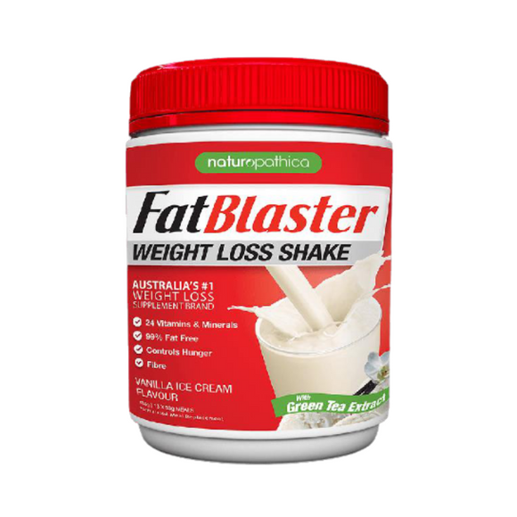 FATBLASTER Weight Loss Shake 30% Less Sugar Vanilla 430g