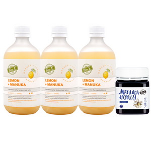 Bio-E Lemon Manuka Juice 500ml*3 Get ONE 265g Honey for FREE