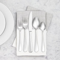 AmazonBasics Stainless Steel Kitchen Dinner Forks with Round Edge, Set of 12