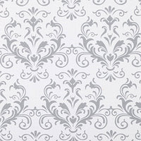 Duck Brand Smooth Top EasyLiner Non-Adhesive Shelf Liner for Kitchen Cabinets, 12-Inch x 10-Feet, Grey Damask, 283319