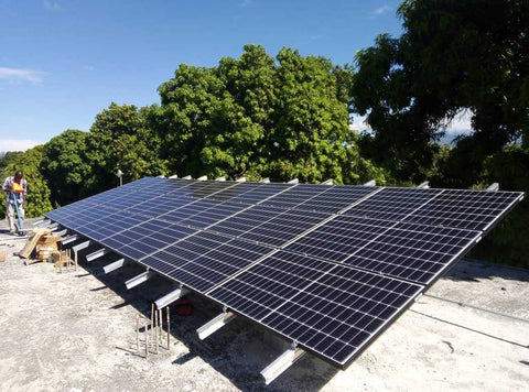 solar panels in Haiti for PeaceQuilts