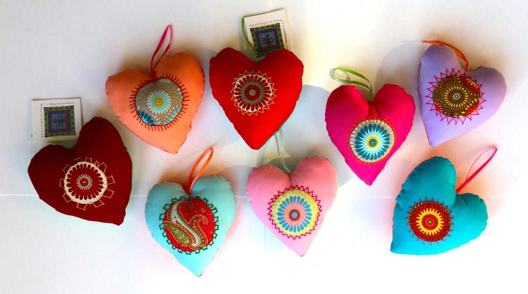 'Sweethearts' Set of 3 Stuffed Hearts