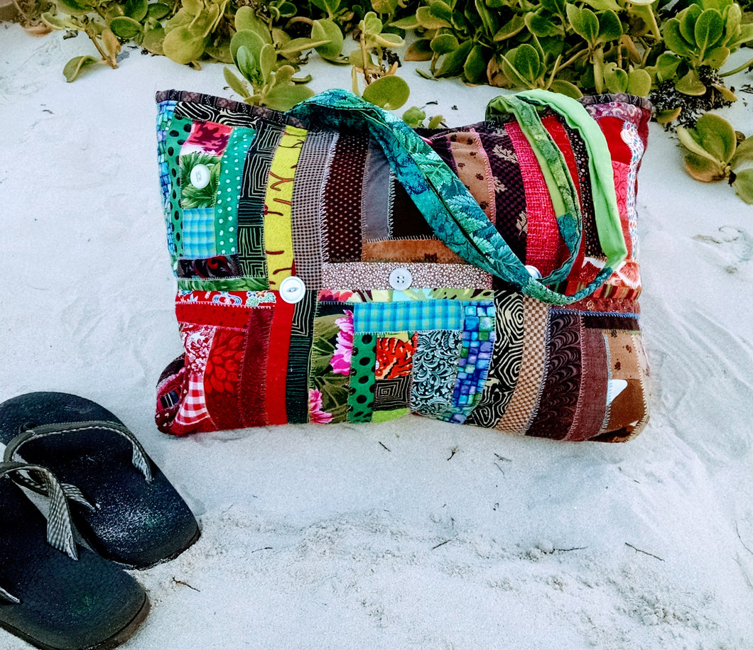 'Kwilt Fou' Quilted Beach & Yoga Tote