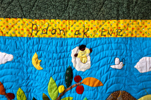 Adam and Eve - Adan ak Eve - folk art quilt
