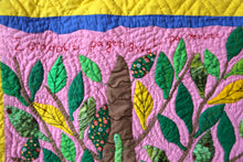 Load image into Gallery viewer, If the Lizard Doesn't Have a Tree, He Cannot Climb Up - folk art quilt