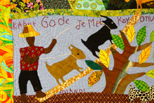 Load image into Gallery viewer, Goats Look to Their Owner Before Wandering - folk art quilt
