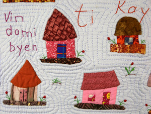 The Little Houses Are Beautiful - Ti Kay Sa Yo Bel - folk art quilt