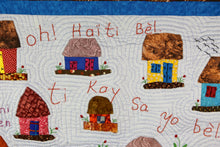 Load image into Gallery viewer, The Little Houses Are Beautiful - Ti Kay Sa Yo Bel - folk art quilt