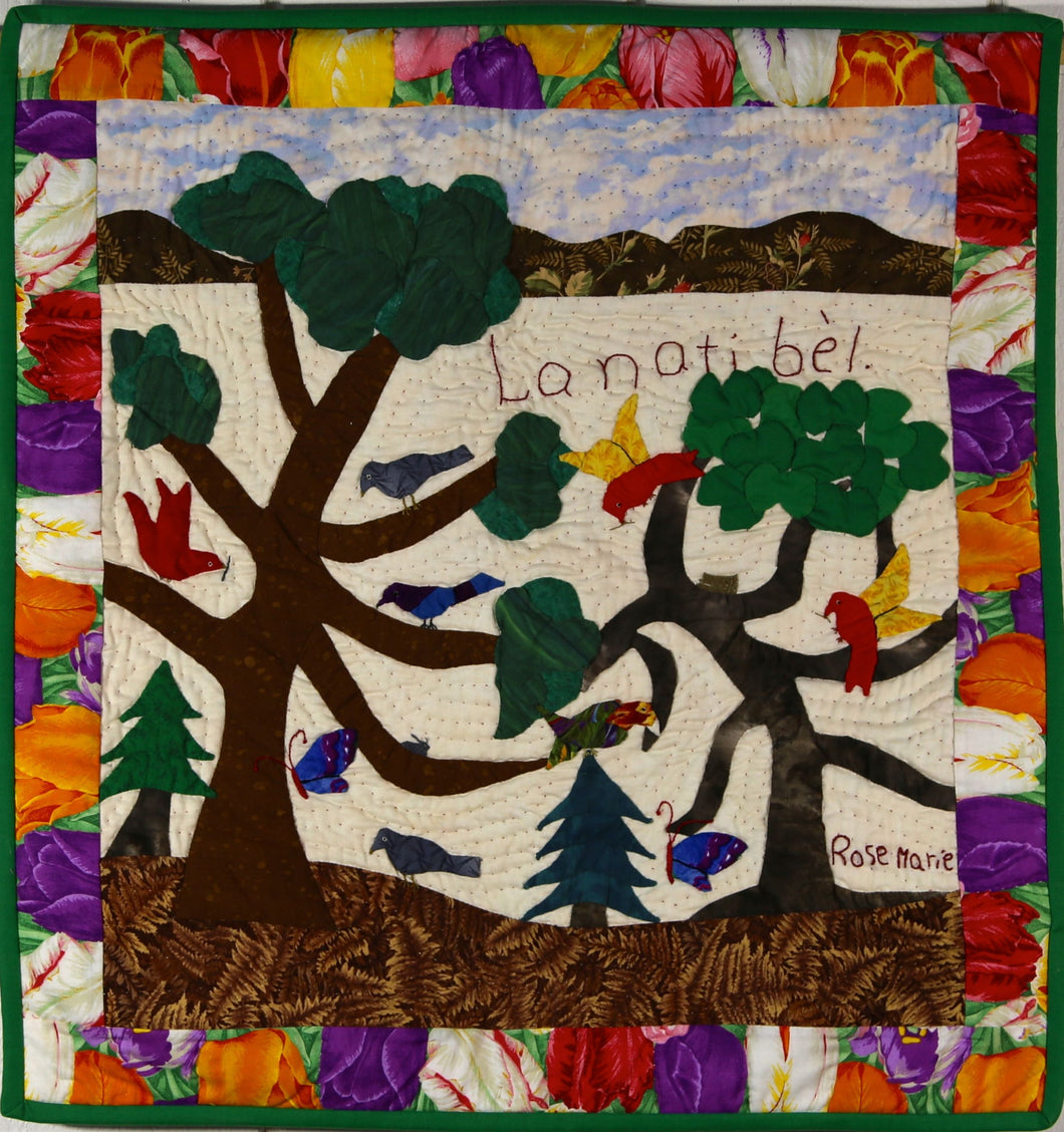 Beautiful Nature - La Nati Bel - folk art quilt