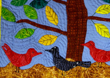 Load image into Gallery viewer, Birds Alighting Under the Tree - Zwazo Yo Anba Pye Bwa - folk art quilt