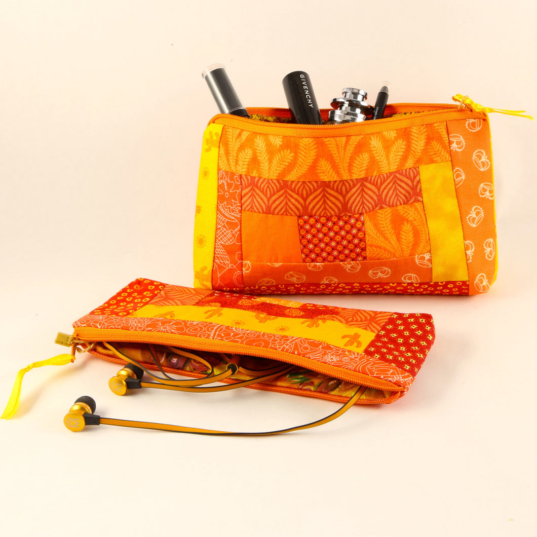 'Kwilt Fou' Quilted Zipper Pouch Set