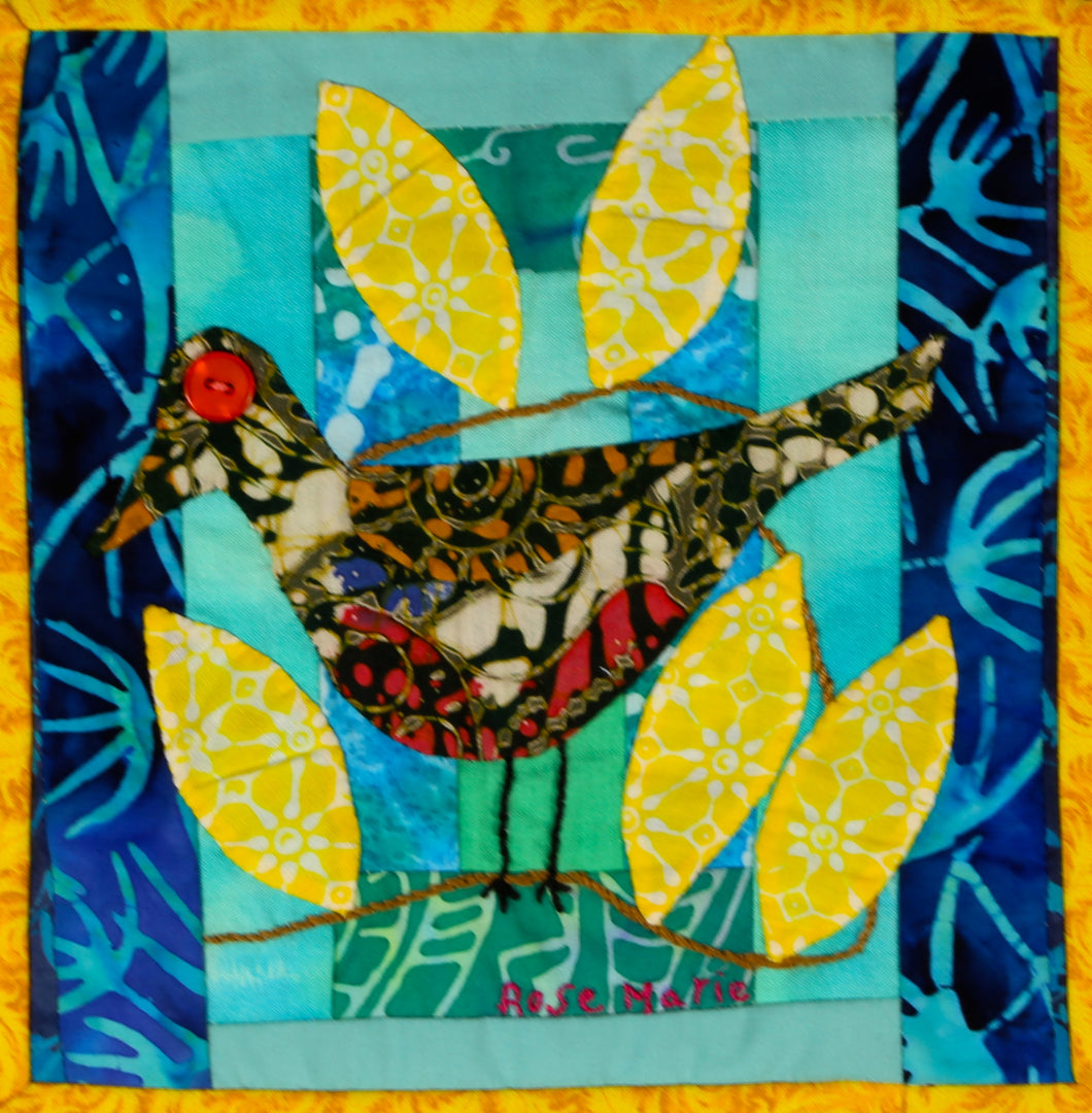 #17 Birds of Hope Framed Mini-Quilts